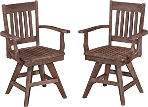 Morocco Indoor & Outdoor Dining Swivel Chair Pair by Home Styles