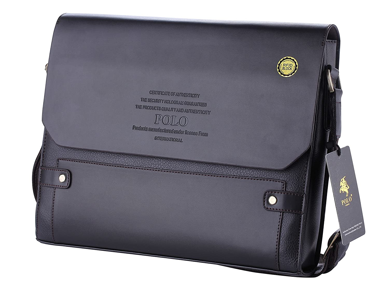 Polo videng® M336 Top maletín bloque de RFID de piel bandolera ...