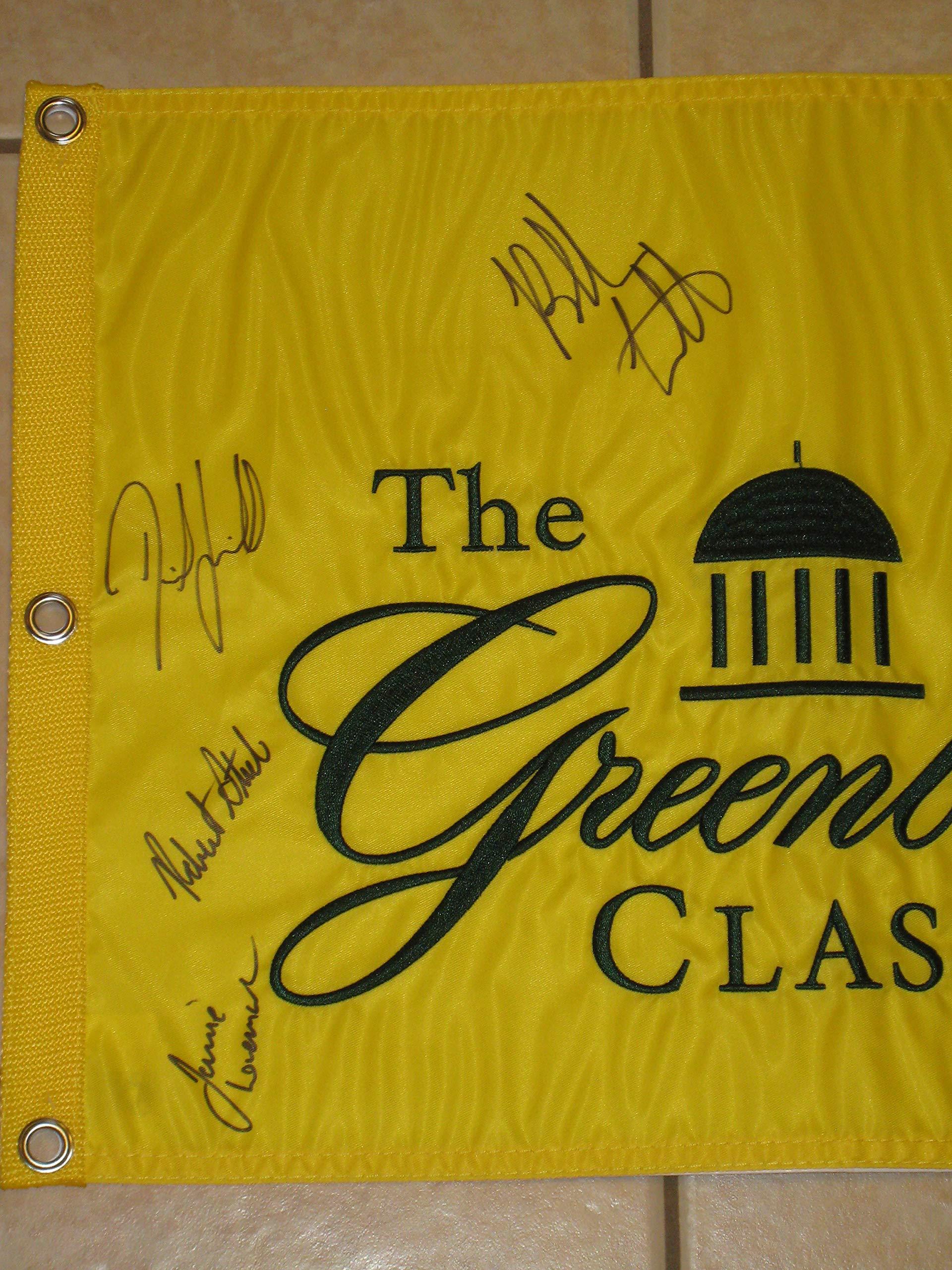 Greenbrier Classic Pin Flag Autographed by 7 Bubba Watson, Finau, Lee, Bradley, Lovemark COA