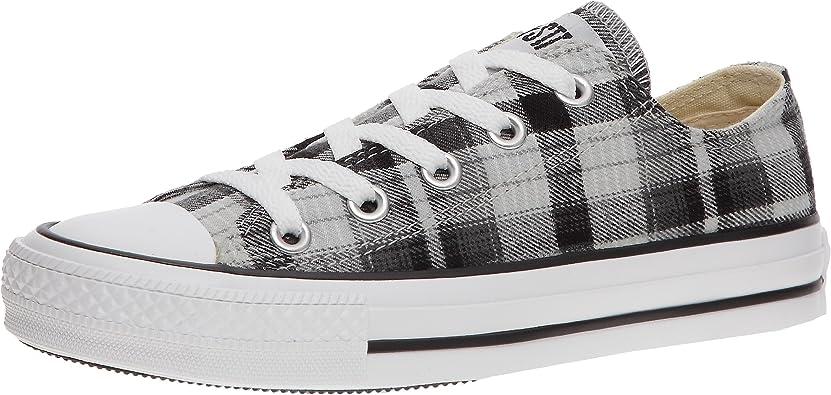 Converse Chuck Taylor Volume Plaid Ox, Damen Sneaker, Grau