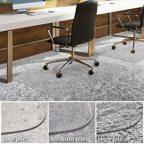 amazon com office chair mat for carpeted floors desk chair mat