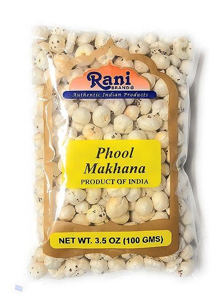 Rani Phool Makhana (Fox Tuerca/metimos la semilla de Lotus) 100g