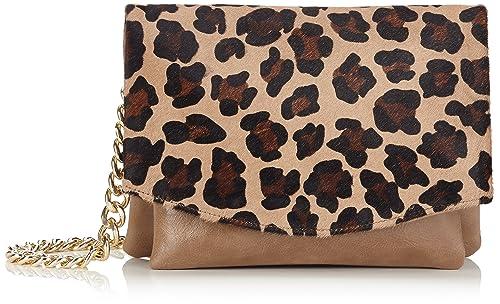 Cortefiel, Classic Print Cartera - Bolso para mujer, color beige/roasted, talla U: Amazon.es: Zapatos y complementos