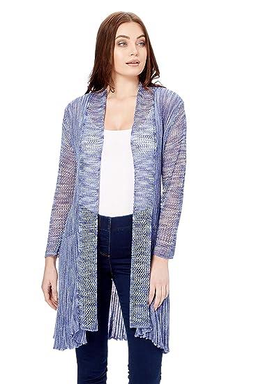 caba9c909232b Roman Originals Femme Cardigan Long Ouvert Manches Long - Printemps Ete  Cérémonie Uni Gilet Léger Confortable