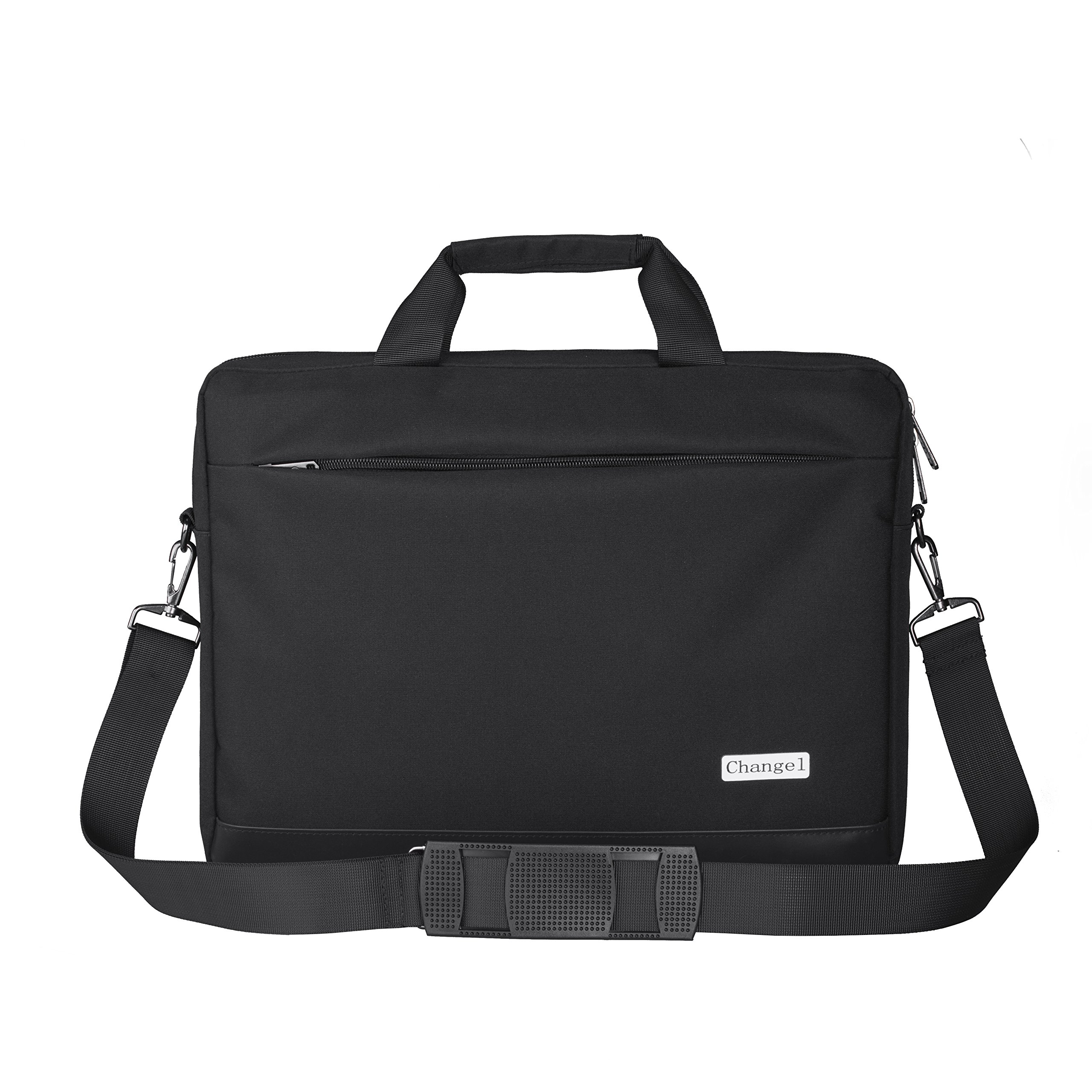 15.6 inch Laptop Bag, changel Laptop Case, Briefcase Messenger Shoulder Bag for Men Women, College Students Business People Office Workers Professional Computer, Notebook, Table, MacBook Bag, Black