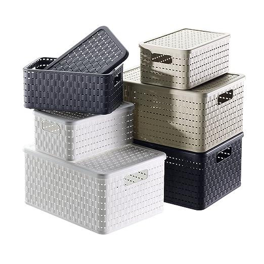 Cajas de almacenaje A5 // 6 Liter 28 X 18,8 x 12,6 cm Cappuccino 3 Unidades Rotho Country