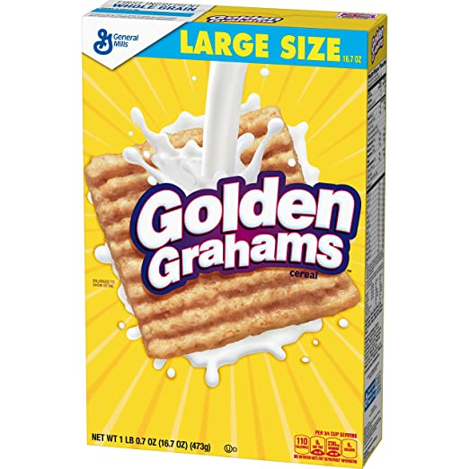 Golden Grahams Breakfast Cereal, Large Size, 16.7 Oz