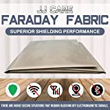 """Upgraded EMF Shielding Faraday Fabric 44""""x39"""" with Free 1""""x24"""" Faraday Tape, EMF Shielding Fabric, Anti Radiation, EMI Isolation, WiFi and Cell Signal Blocking Grounding Fabric, Faraday Cage Enclosure"""