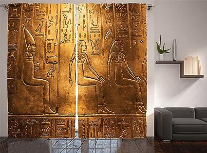 Amazoncom Ambesonne Egyptian Decor Collection Egyptian - Egyptian bedroom design