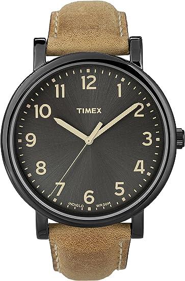 e3018d8e1c25 Timex Originals - Reloj análogico de cuarzo con correa de cuero unisex