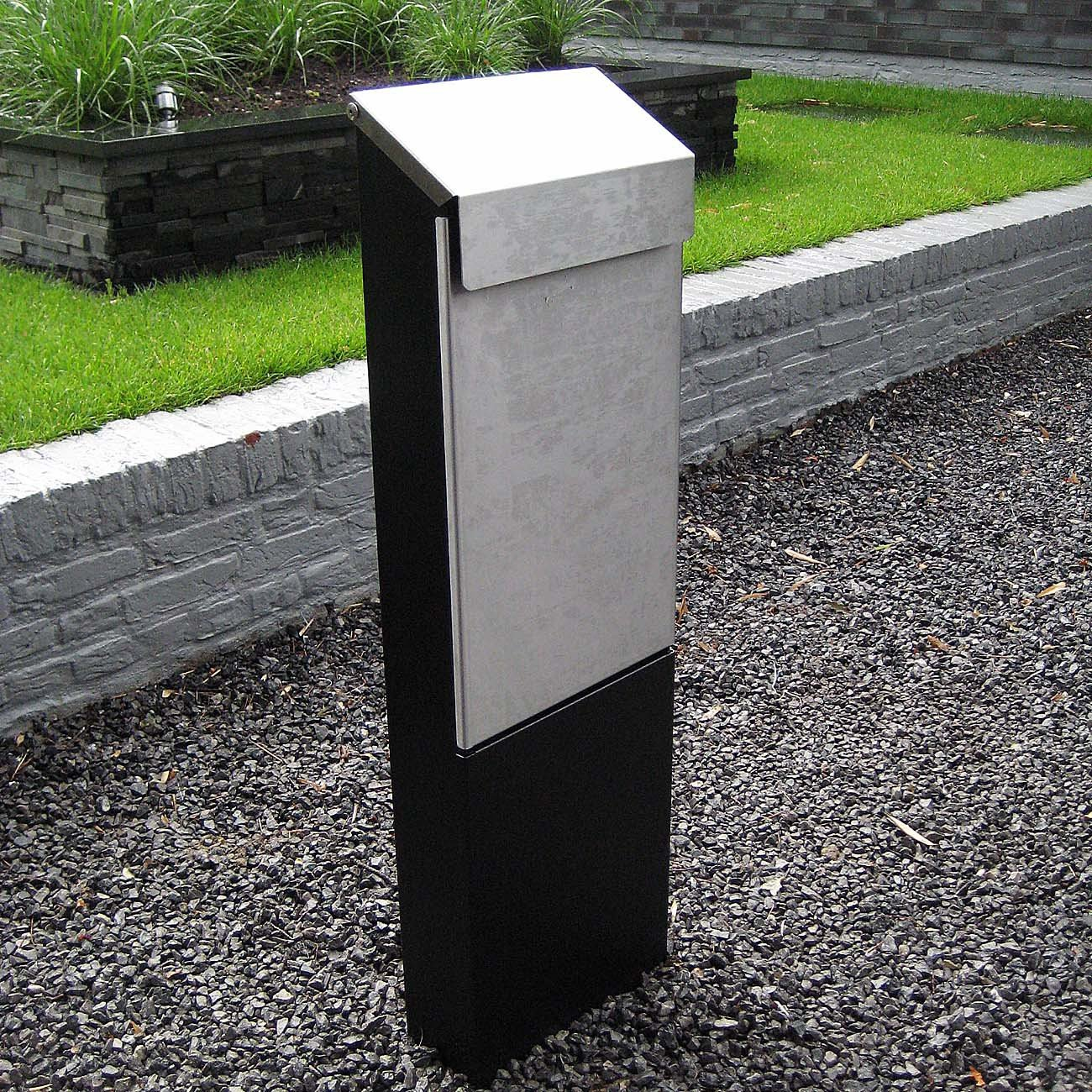 Briefkasten Stand bobi standbriefkasten aus edelstahl korpus und ständer
