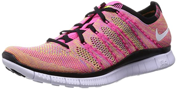 huge discount aa420 fbde3 Amazon.com  Nike Free Flyknit NSW Mens Running Trainers 599459 Sneakers  Shoes (UK 8.5 US 9.5 EU 43, Pink Flash White Volt Blue Glow 600)  Shoes