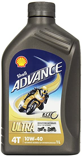 SHELL 1520001 Advance 4T Ultra 10W-40 Aceites de Motor para Coches, Transparente, 1 litro: Amazon.es: Coche y moto