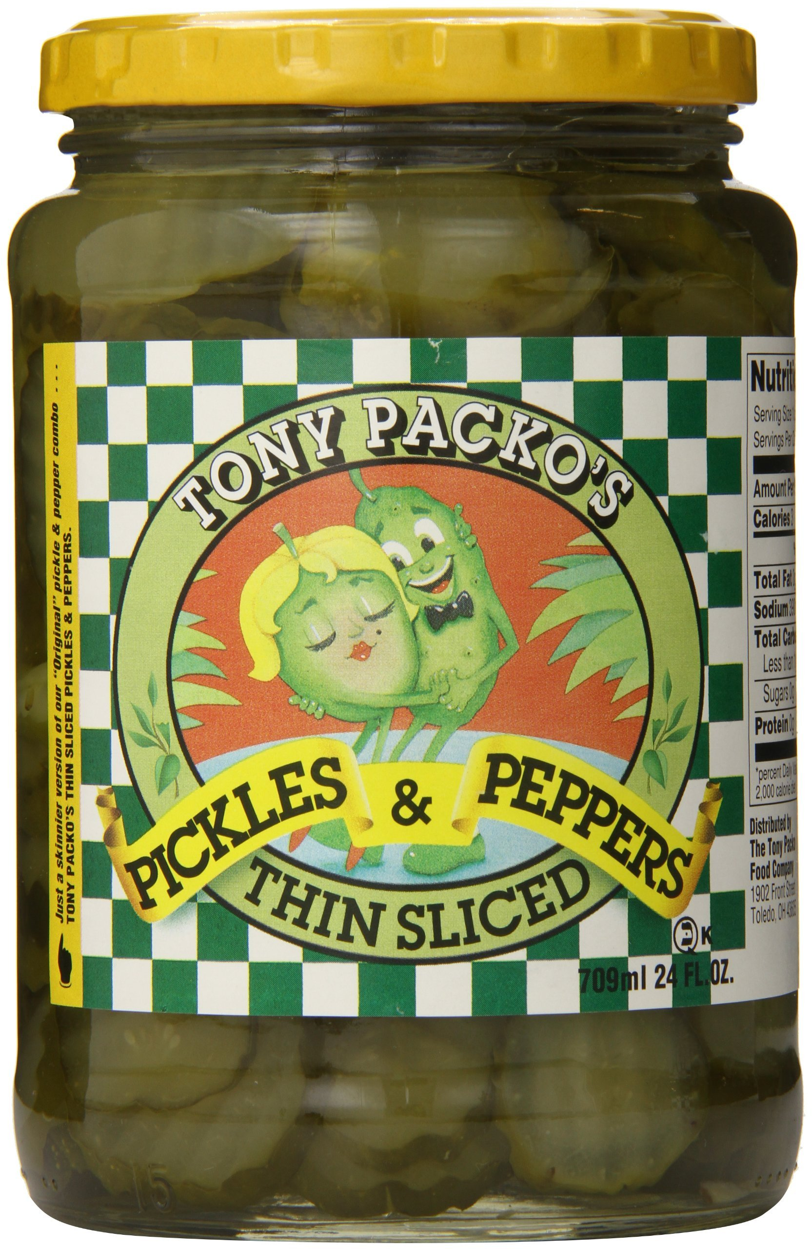 Tony Packos Pickle Ppr Swt Hot by Tony Packo's