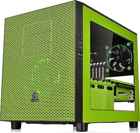 Thermaltake Core X5 Black – Caja de Ordenador (Placa Base ATX chasis apilable de refrigeración líquida Certificado Cubo Casos Verde: Amazon.es: Informática