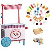 Ice Cream Cart by Svan - Real Wood Construction, with Money Box, Chalkboard, Chalk and Over 30 Ice Cream Pieces