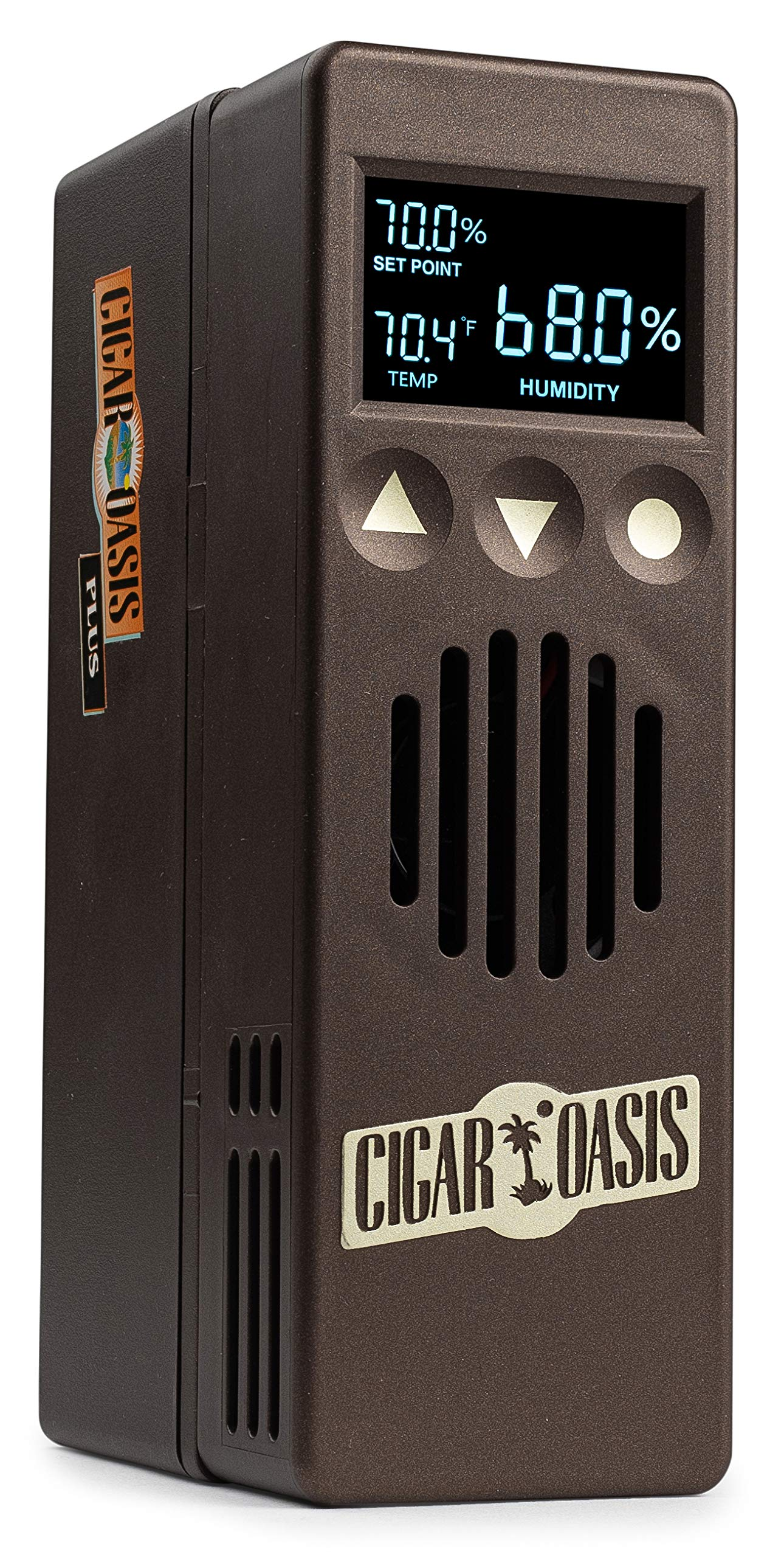 Cigar Oasis Plus 3.0 Electronic Humidifier for end-table humidors 4-10 cubic feet (300-1000 cigar capacity)