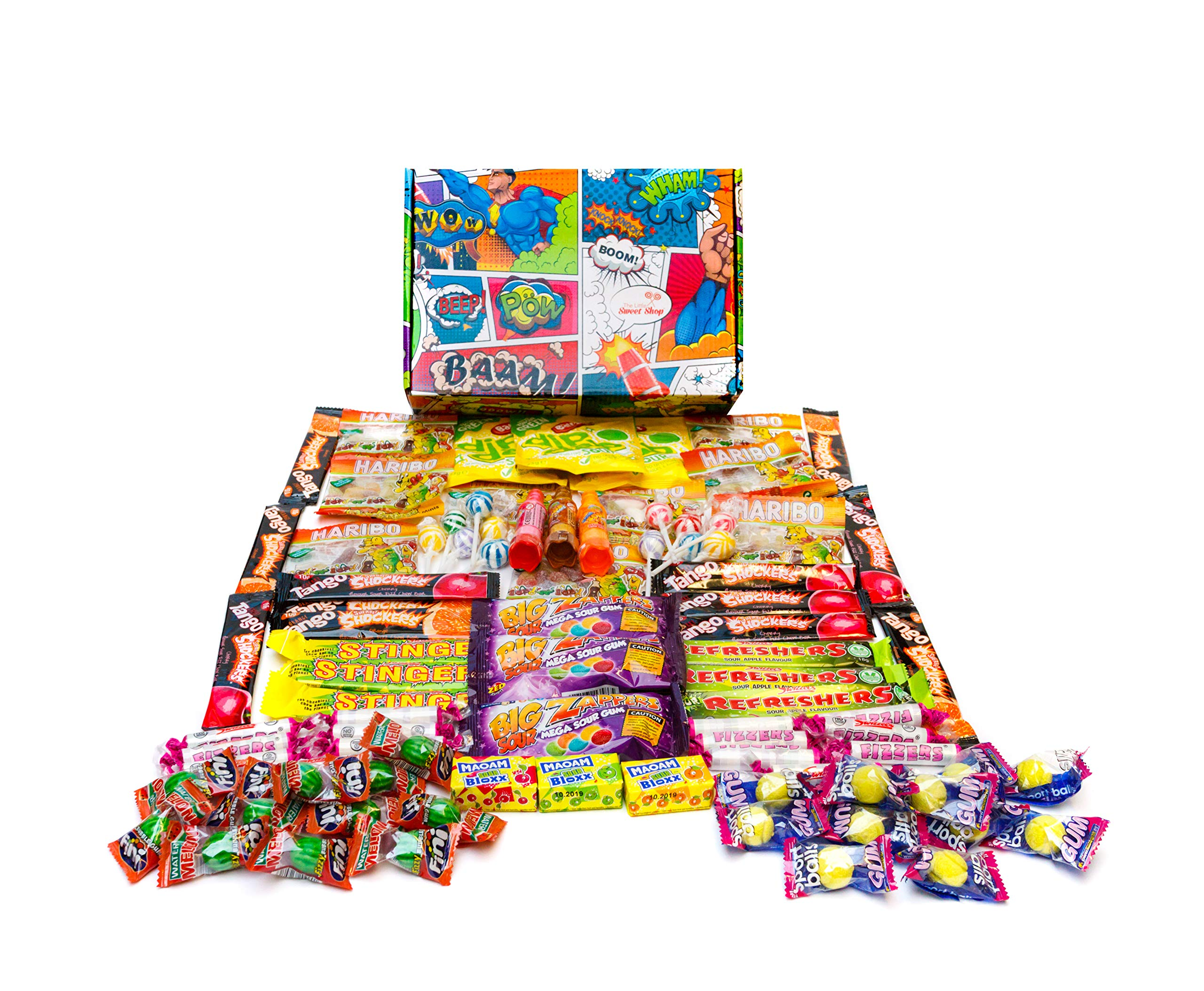 The Little Sweet Shop Sour Sweets Gift Hamper Great for Parties, Weddings and Birthdays (Comic)