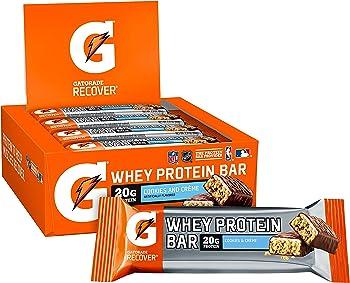 12-Pack Gatorade Whey Protein Bars, 2.8 oz