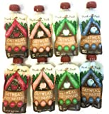 Munk Pack Oatmeal Fruit Squeeze In 4.2 Oz Squeezable Containers (Four Flavor Bundle, 8)
