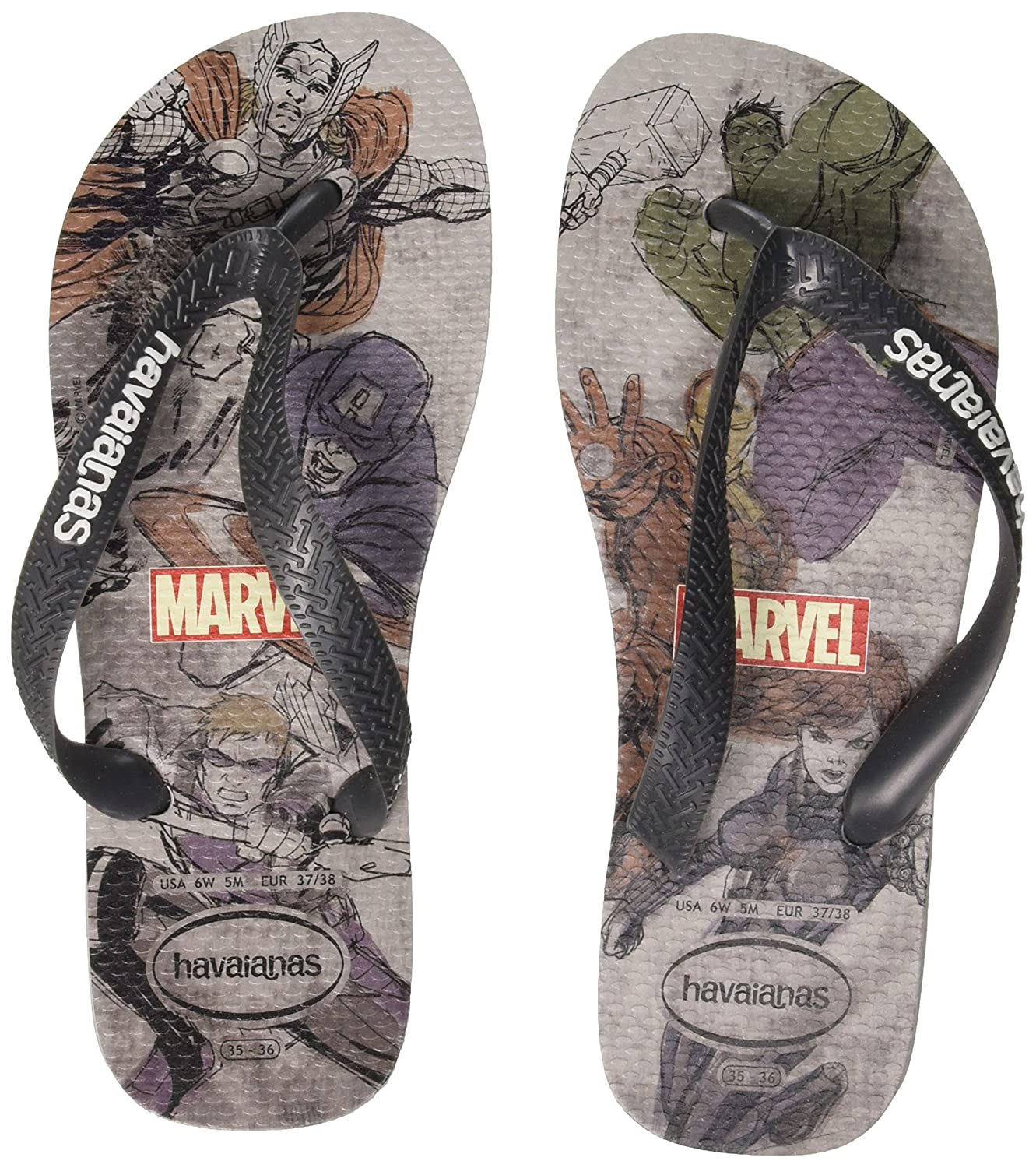 Havaianas Top Marvel, Chanclas para Unisex Adulto
