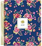 "bloom daily planners 2018 Calendar Year Hard Cover Vision Planner - Monthly/Weekly Datebook Agenda Organizer - January 2018 - December 2018 - (7.5"" x 9"") - Vintage Floral"