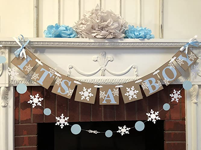 Amazon Little Snowflake Baby Shower Decorations Winter Baby