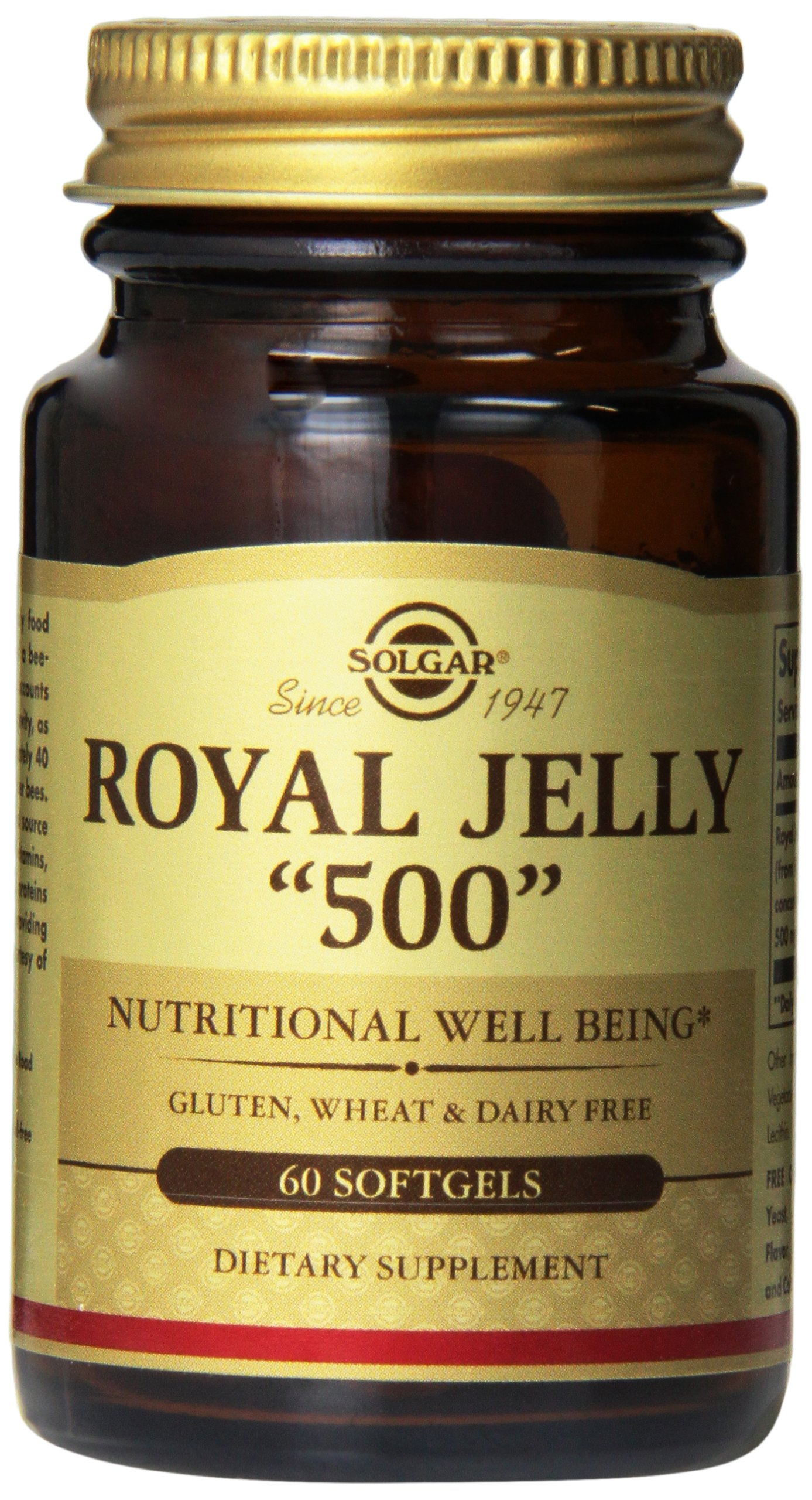 Solgar - Royal Jelly''500'' Supplement, 60 Softgels