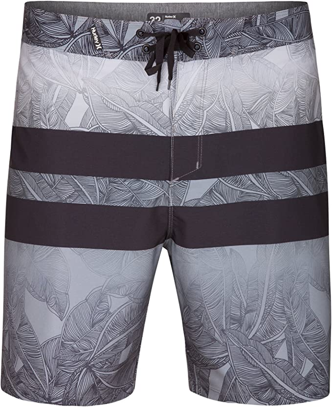 Hurley Mens Phantom Stretch Printed 18 Straight Hem Boardshort Swim Short