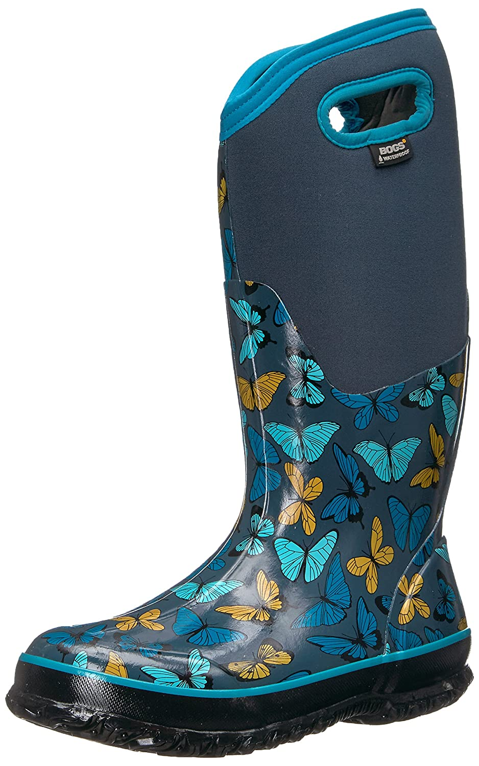 Bogs Women's Classic Butterflies Snow Boot B01MUDZKN1 6 B(M) US|Navy Multi