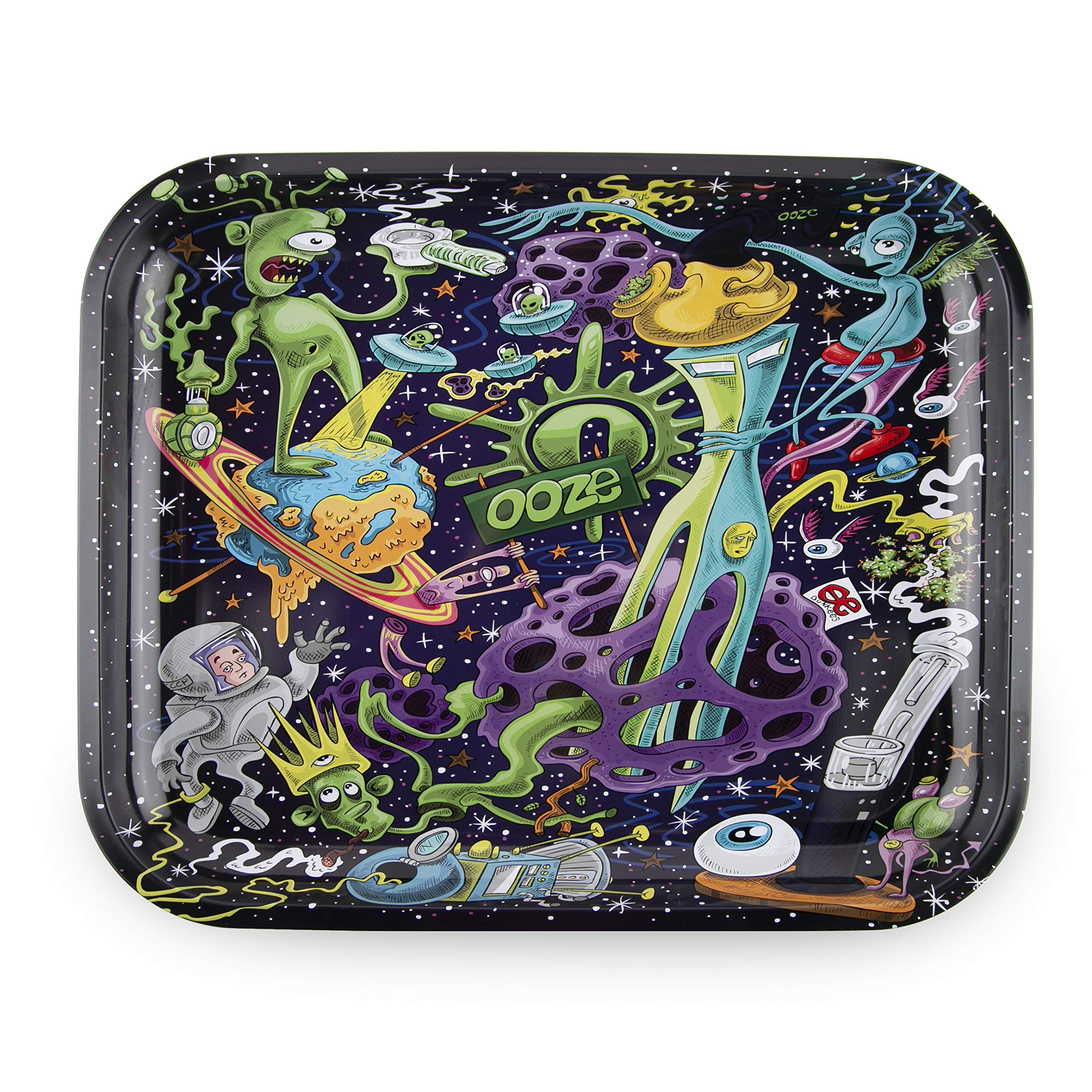Ooze - Metal Rolling Tray - Universe - (Large) by Ooze Life