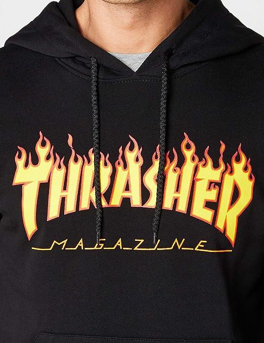 5696e86a4975 Amazon.com  Thrasher Flame Pullover Hoody  Clothing
