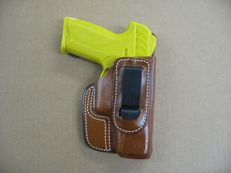 Ruger Security 9 9mm OWB Leather 2 Slot Molded Pancake Belt Holster CCW TAN RH