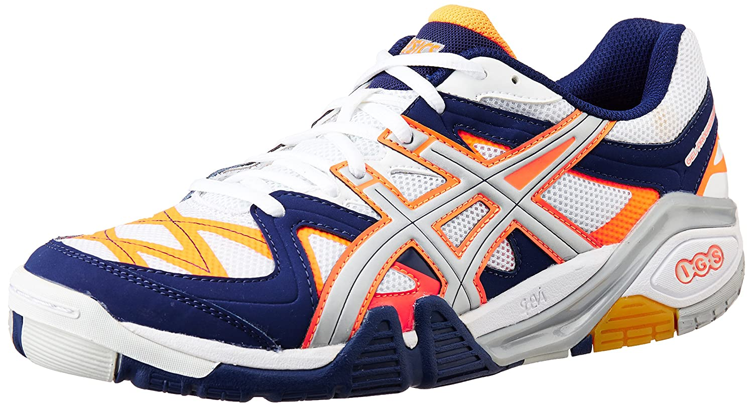 ASICS Men's Gel-Progressive 2 White, Neon Orange and Lightning Badminton  Shoes - 12 UK: Buy Online at Low Prices in India - Amazon.in