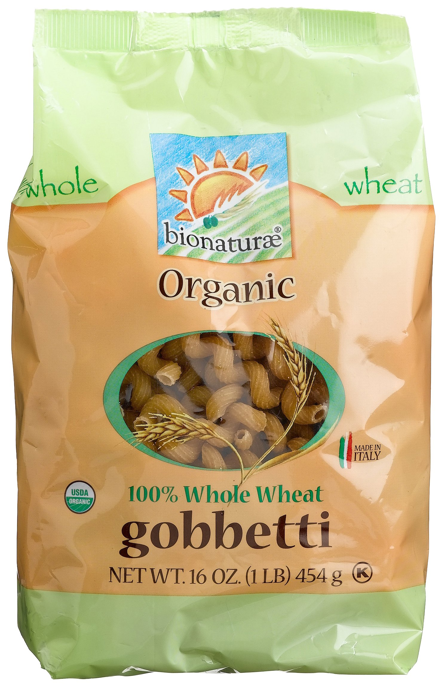 bionaturae Organic Whole Wheat Gobbetti, 16 Ounce Bags (Pack of 12) by bionaturae