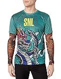 Faux Real Men's 3D Photo-Realistic Long Sleeve Mesh Tattoo Tee Shirt, SNL-Stefon, L