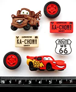 Disney Cars – diseño de Craft botones y adornos por Dress It Up ...