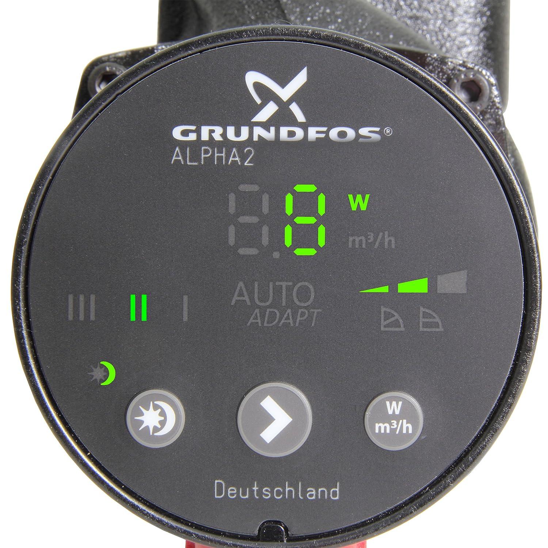 Grundfos Hocheffizienz-Umw/älzpumpe Alpha2 32-80 180 mm