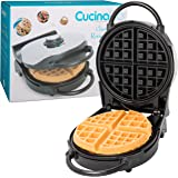 """Belgian Waffle Maker- Non-Stick 7.5"""" Waffler Iron w Patented Ready Beep and Adjustable Browning Control"""