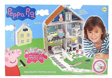 Casa Da Colorare Di Peppa Pig 360129 Amazonit Giochi E Giocattoli