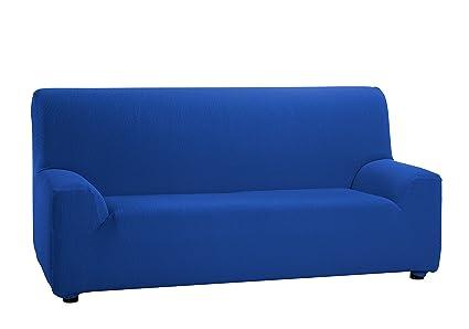 Martina Home Tunez, Funda elástica para sofá, color Azul Eléctrico, medidas para 3 Plazas (180-240 cm)