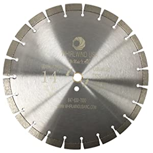 Whirlwind USA TSS 14-Inch Laser Welded Dry or Wet Cutting General Purpose Standard Power Saw Segmented Diamond Blades for Cutting Concrete and Masonry