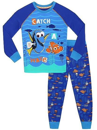 Disney Buscando a Dory - Pijama para Niños - Dory y Nemo - Ajuste Ceñido -