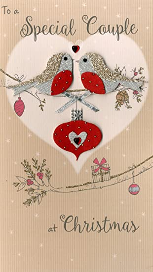 Someone Special Embellished Christmas Card Hand-Finished Champagne Range Cards