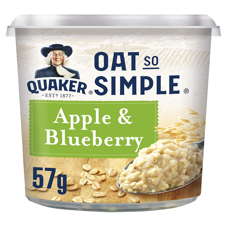 Quaker Oat So Simple Apple and Blueberry Porridge Pots, 57 g (Pack of 8) WALFZ