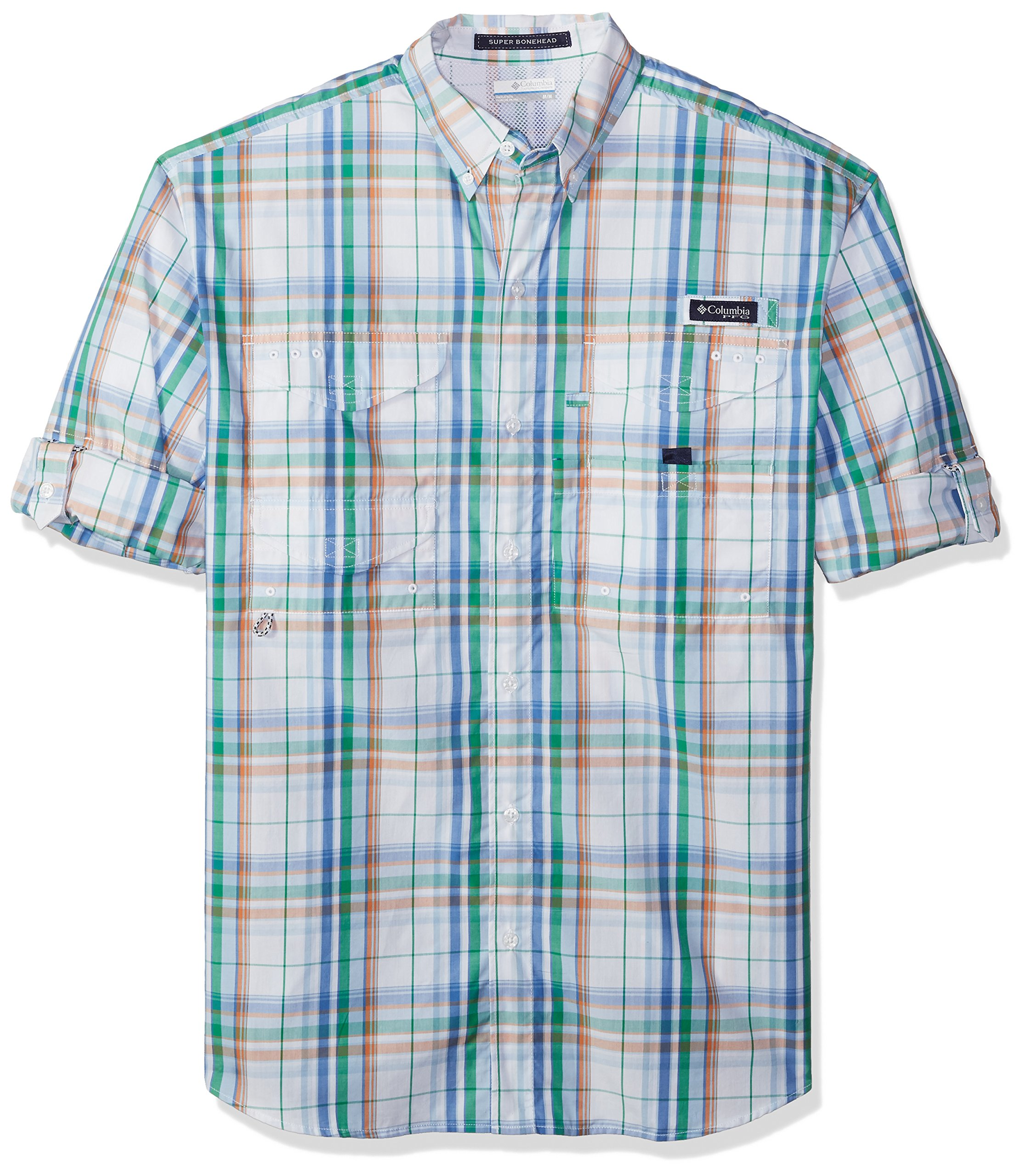 Columbia Men's Super Bonehead Classic Long Sleeve Shirt, Harbor Blue Plaid, Medium by Columbia
