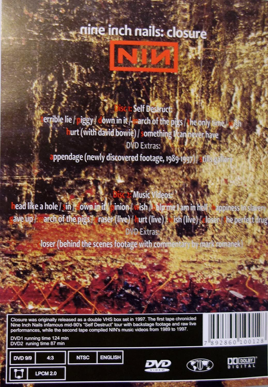 Amazon.com: Nine Inch Nails: Closure (2 DVD Set, 2001): Nine Inch ...