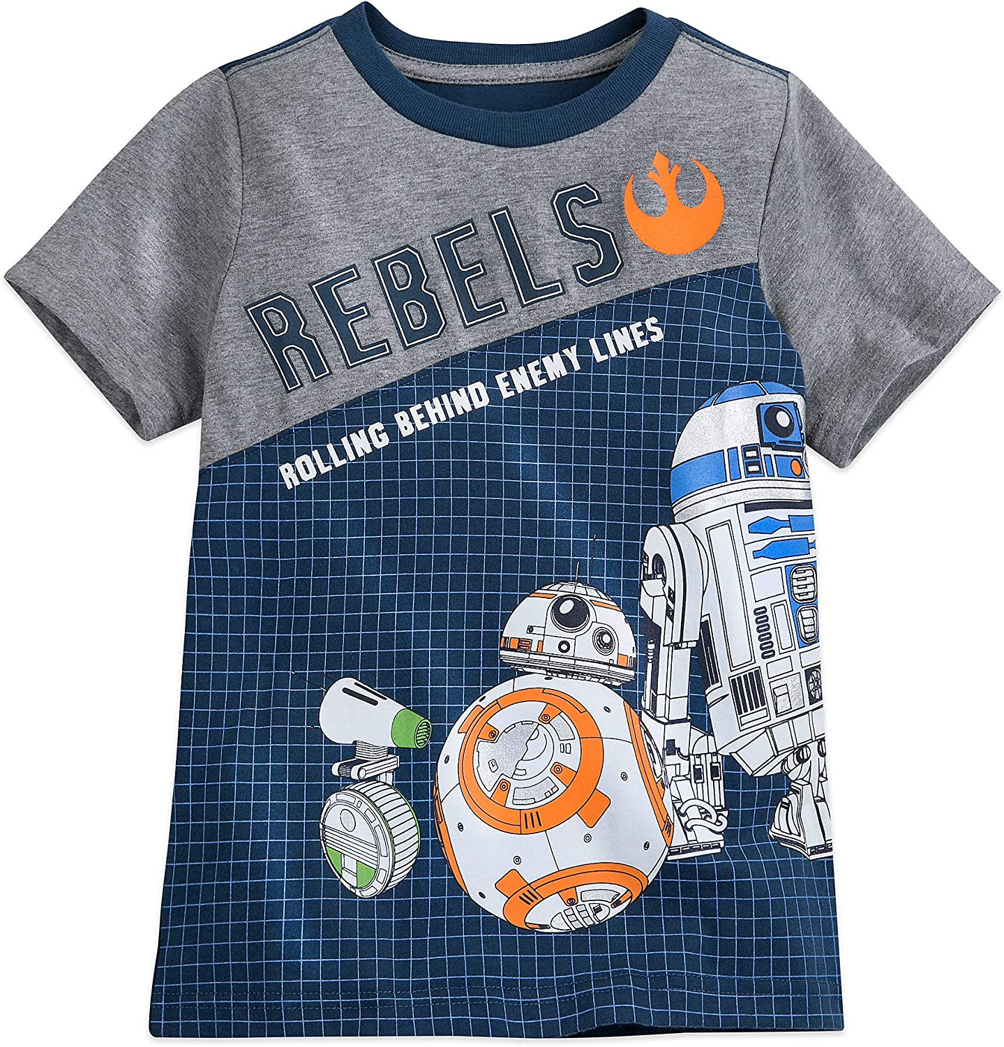 Amazon Com Star Wars Bb 8 And D O Fashion T Shirt For Boys The Rise Of Skywalker Clothing