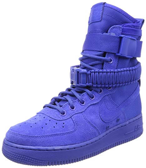 new style 7b41c f0d89 Nike SF Air Force 1, Scarpe da Ginnastica Uomo, Blu Game Royal 401,
