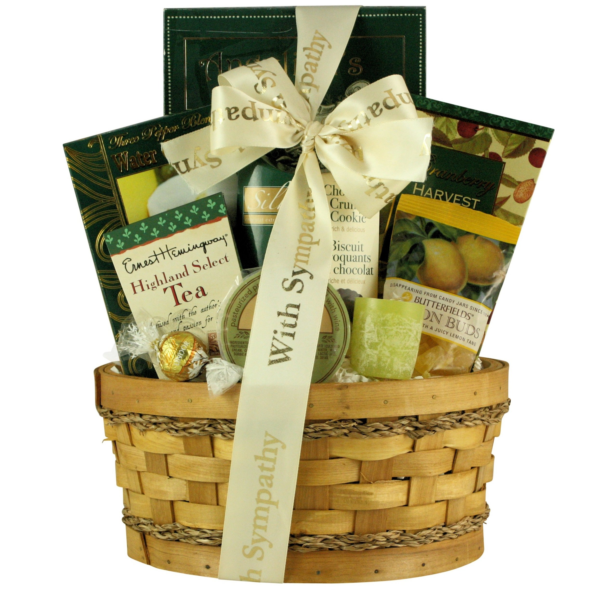 GreatArrivals Thinking Of You Sympathy Gift Basket, 4 Pound by GreatArrivals Gift Baskets (Image #1)